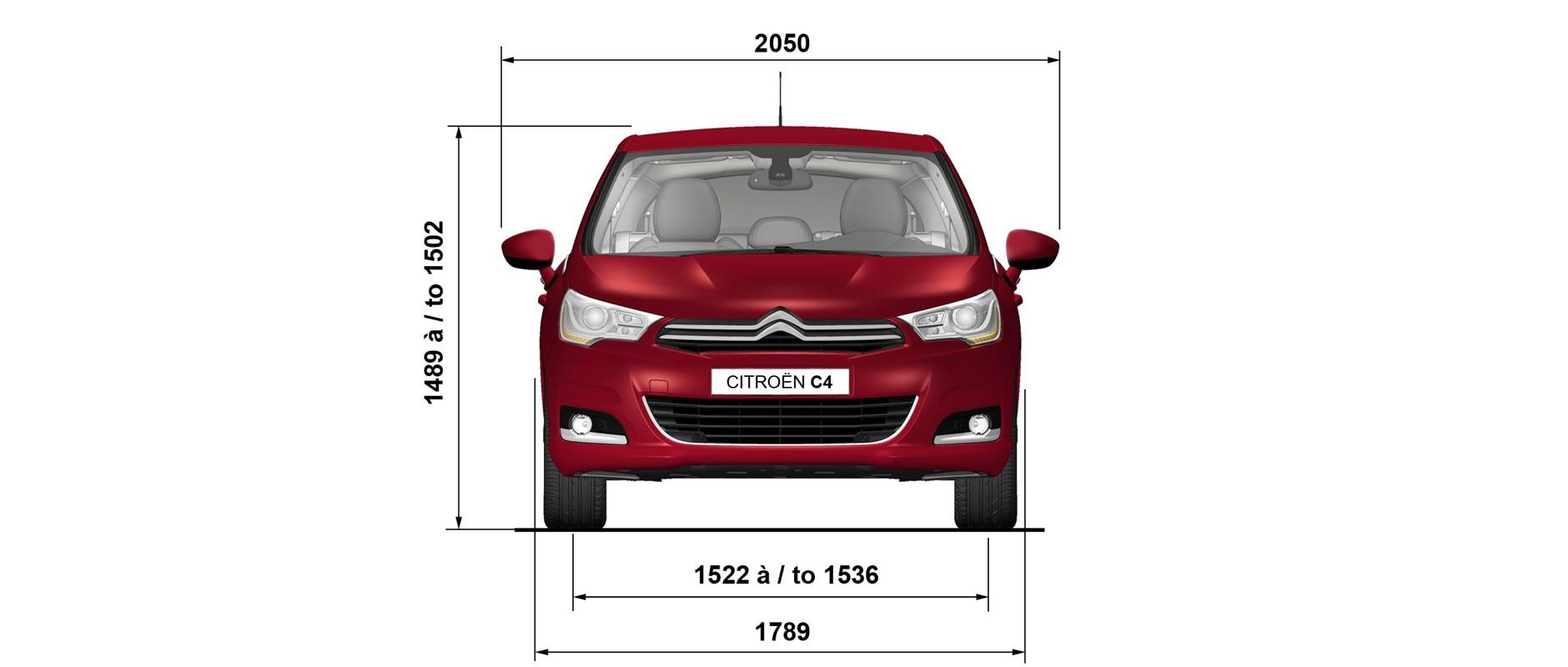 Citroën C4 - détails - Dimension